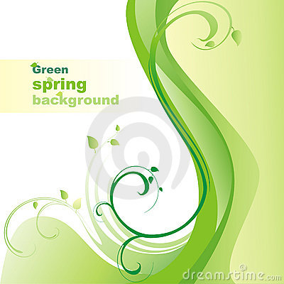Green spring background.