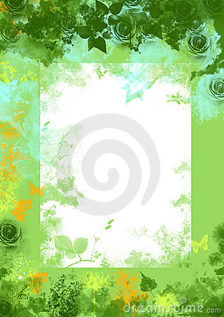 Free Green Spring Floral Grunge Background Stock Images - 2002224