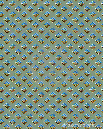 Green Square Diamondplate