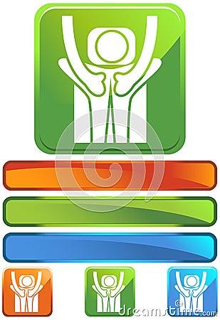 Green Square Icon - Back Treatment