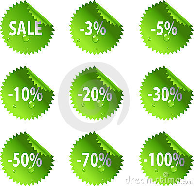Green St. Patrick s Day glossy Sale stickers