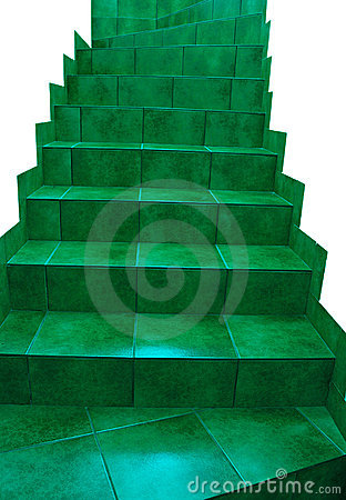 Free Green Stairs Stock Photo - 5874020