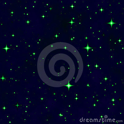 The green star fantasy night sky