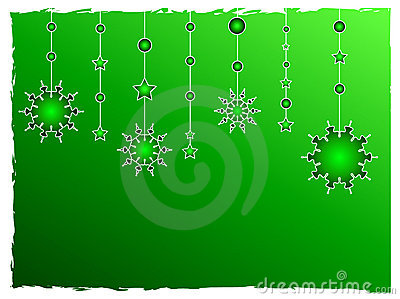 Green stars decoration