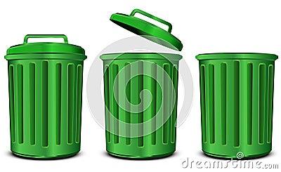 Green steel garbage