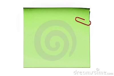 Green sticky note