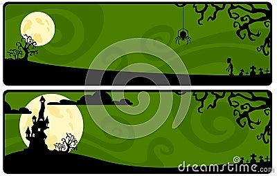 Green strip on a Halloween theme
