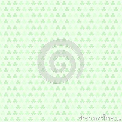 Green striped shamrock pattern. Seamless vector clover backgroun Vector Illustration
