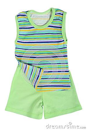 Green summer top and shorts