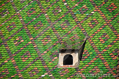 Green symmetrical roof