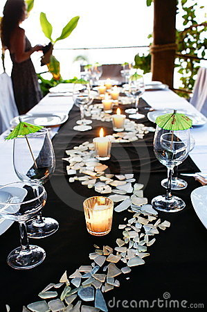 Free Green Table Setting Royalty Free Stock Photography - 7961007