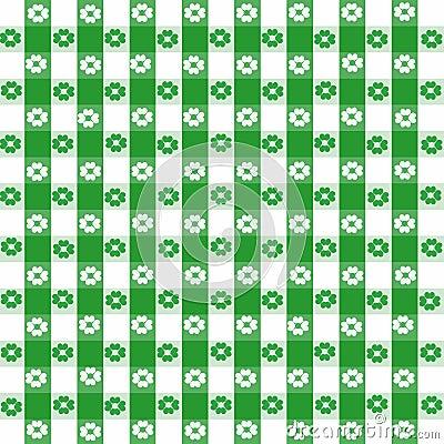 Green tablecloth