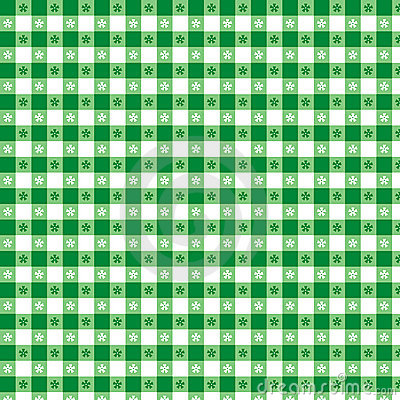 Green Tablecloth Seamless Pattern