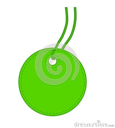 Green tag.