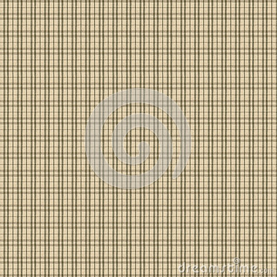 Green and Tan Plaid Fabric