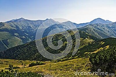 Green Tatra mountain