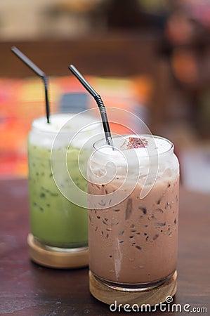 Free Green Tea And Iced Chocolate Stock Image - 70279781