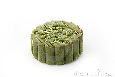 Green tea moon cake