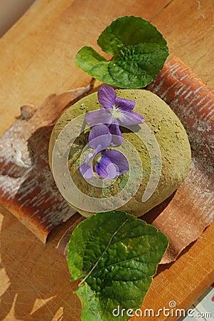 Green Tea Sakura Mochi Rice Donut Dessert