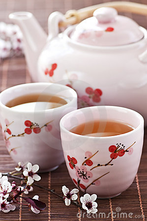 Free Green Tea Set Royalty Free Stock Photography - 10263217