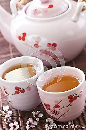 Free Green Tea Set Stock Photography - 10321632