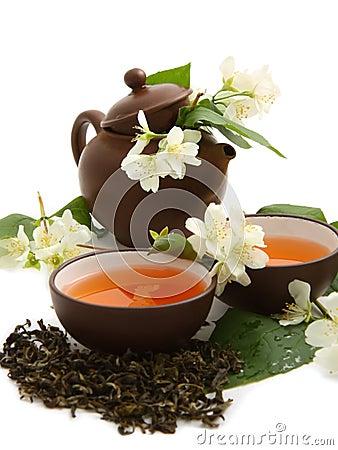 Free Green Tea With Jasmine Royalty Free Stock Photo - 19932605
