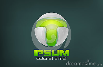 Green Technology Abstract vector logo design. Game