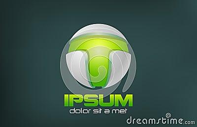 Green Technology Abstract vector logo design. Game
