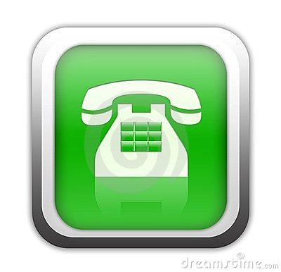 Green telephone button