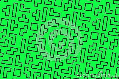 Green tetris background