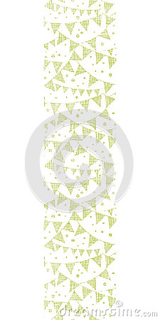Green Textile Party Bunting Vertical Seamless