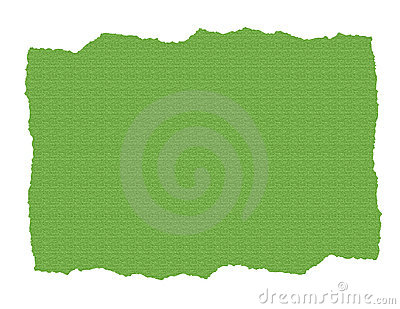 Green Textured Paper Ripped