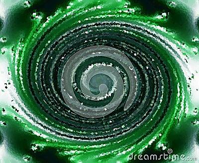 Green textured swirl