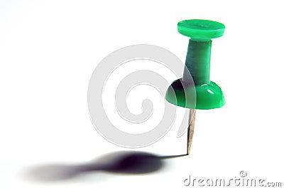 Green thumb tack