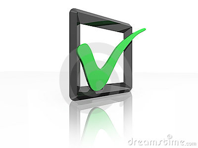 Green tick checkbox