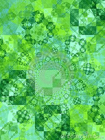 Green Tiles Squares Texture