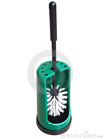 Free Green Toilet Brush Royalty Free Stock Photos - 2856078