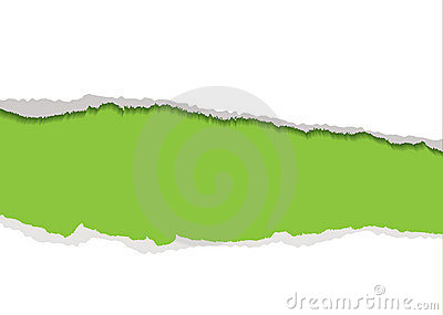 Green torn strip background