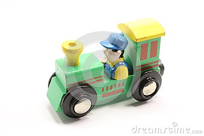 Green Toy Train