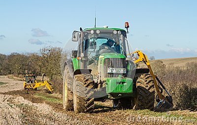 how to get a tractor out of a ditch