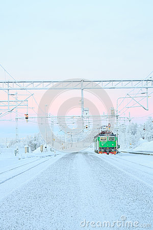 Green Train Locomotive