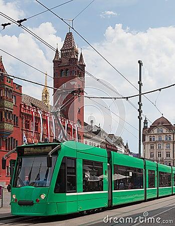 Tram stop in Basel
