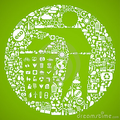 Green trash symbol