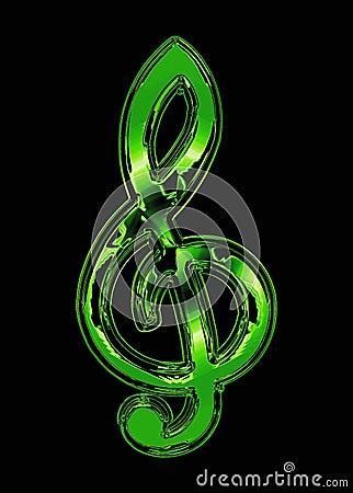 Green treble clef