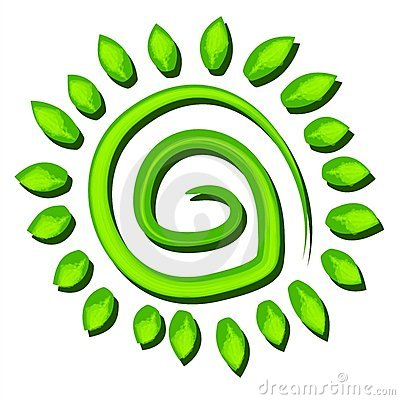 Green Tree Earth Symbol Spiral