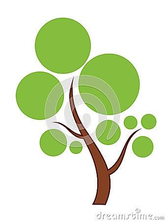Green Tree icon Vector Illustration