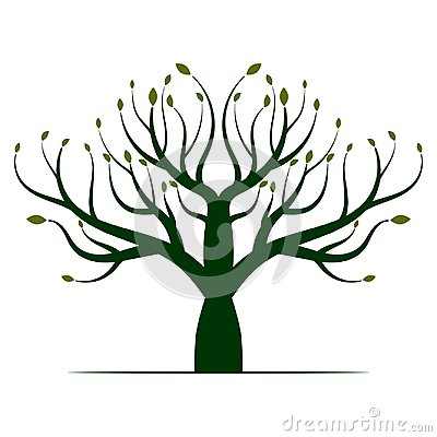 Green Tree Logo Icon Vector Illustration