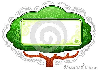 Green Tree Placard