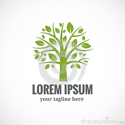 Free Green Tree Vector Logo Design Template Royalty Free Stock Photo - 50930985