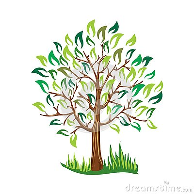 Free Green Tree With Leaves Vector Stylized Vector Royalty Free Stock Images - 130769919